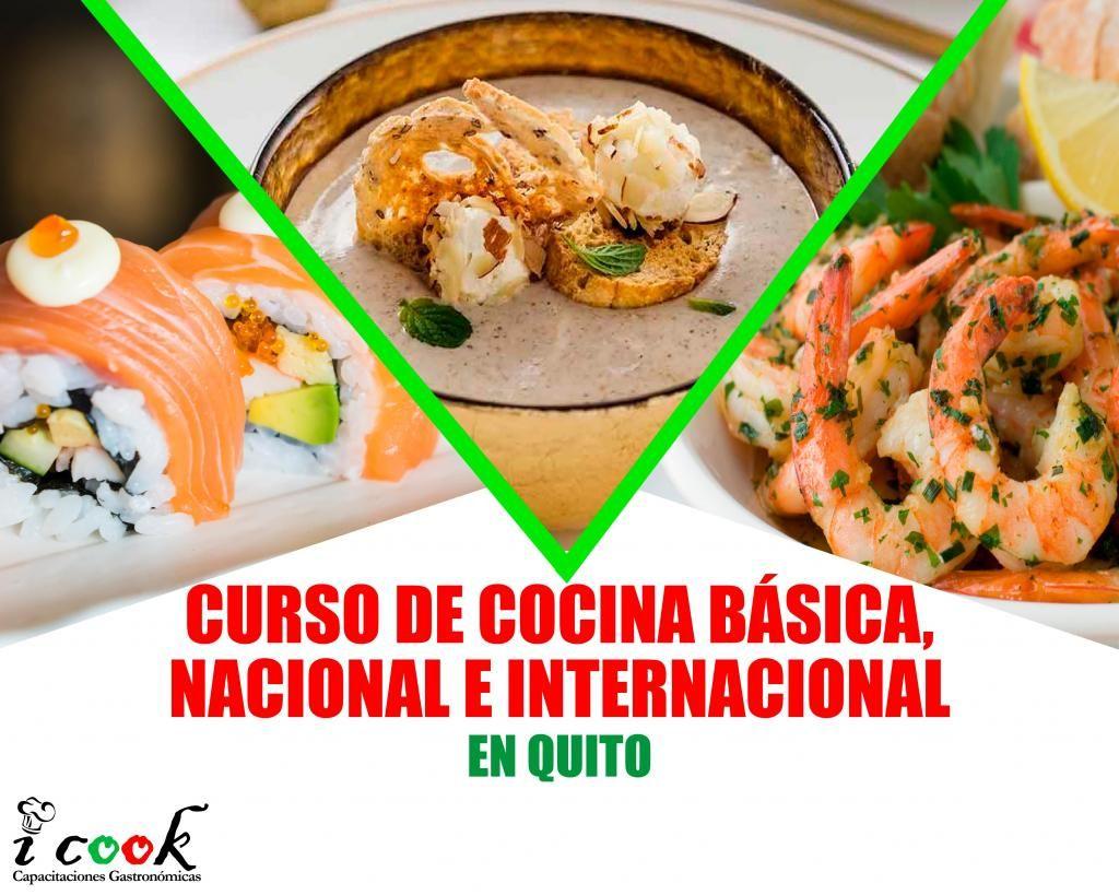 CURSO DE COCINA BÁSICA, NACIONAL E INTERNACIONAL EN QUITO HORARIO NOCTURNO