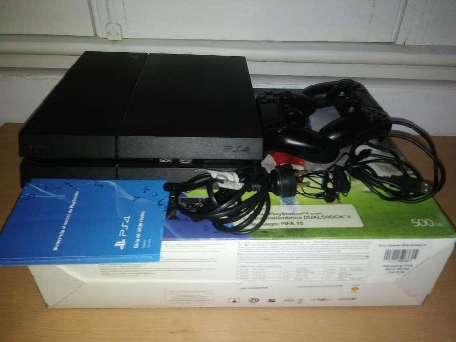 Ps4 500gb Poco Uso, 2 Joystick Fifa16