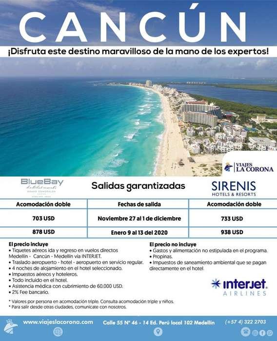 Viaje como un Rey a Cancún H. BLUEBAY 2019 con Viajes la Corona