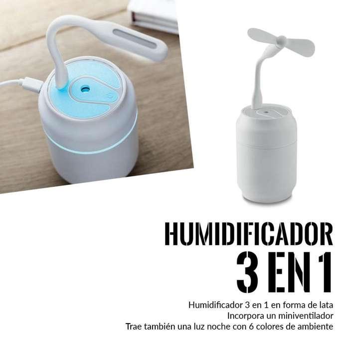 Humificador Difusor De Aromas Con Luz Y <strong>ventilador</strong>