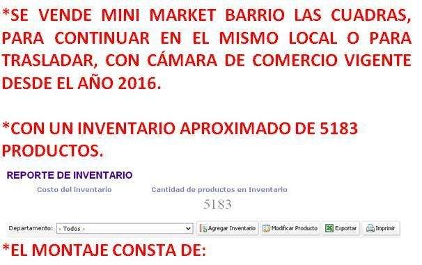 MINI MARKET BARRIO LAS CUADRAS.
