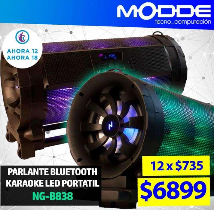 PARLANTE PORTATIL BOOMBOX NG-B838 // MODDE TECNO