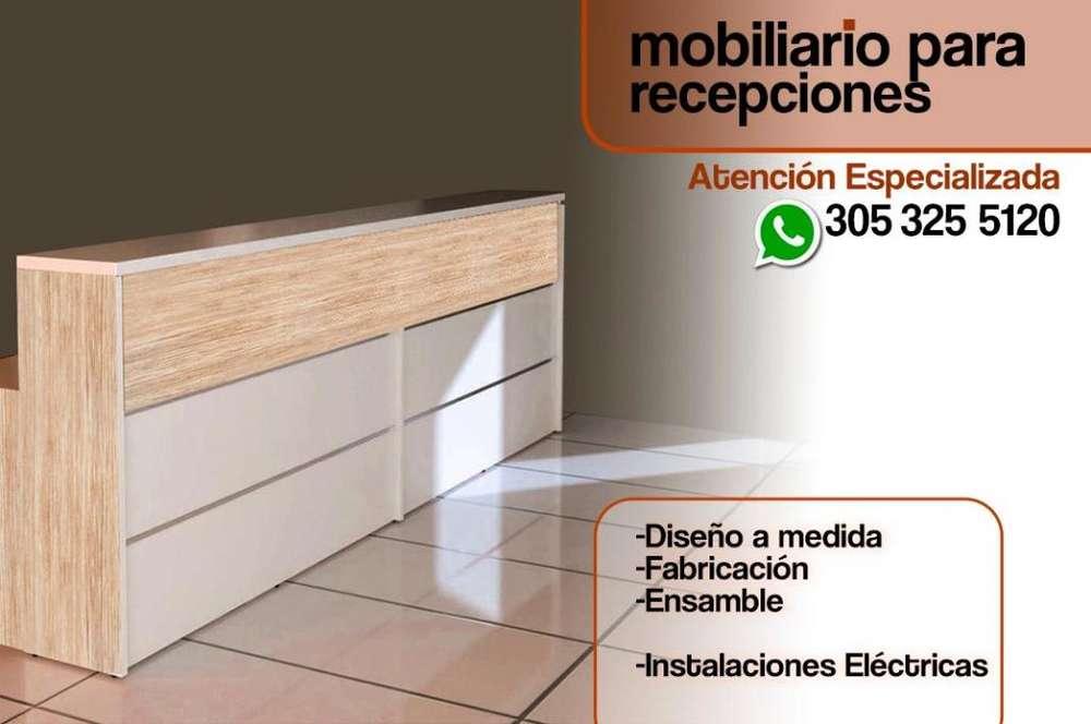 MOBILIARIO PARA RECEPCIONES DE EDIFICIOS, OFICINAS, CENTROS DE ESTUDIO Y OTROS