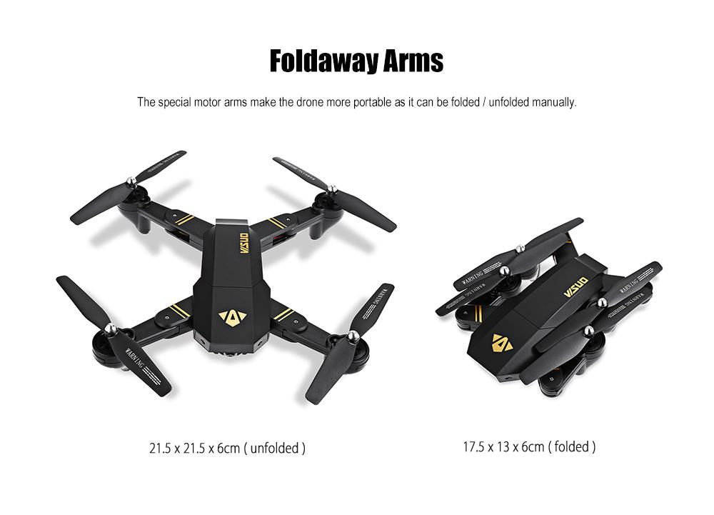 Drone Visuo Tianqu Xs809hw Con 3 Baterías Camara Wifi