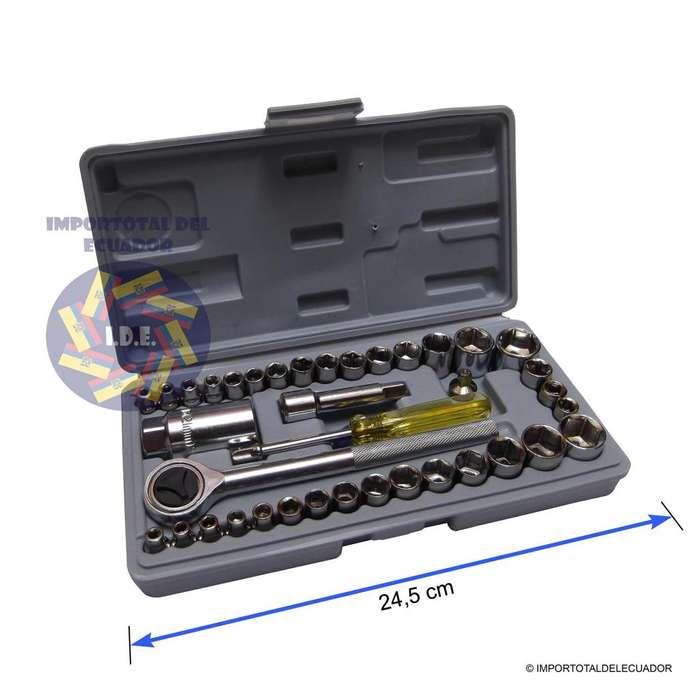 Caja con herramientas ''nuevas'' 1/4'' 3/8'' son ''40 piezas en total'' / Dados, autos, bicicletas, etc. A 7 usd c/u