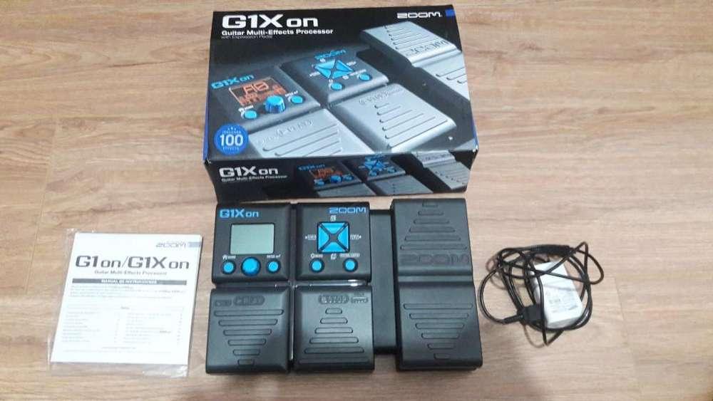 Vendo Pedalera ZOOM multiprocesadora de efectos G1Xon En Perfecto estado