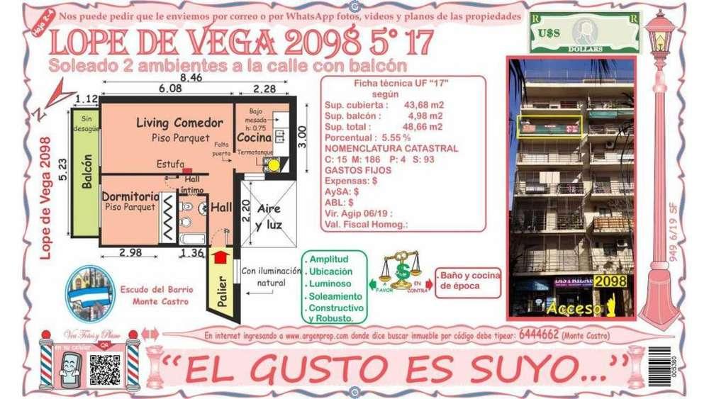 Av. Lope De Vega 2000 5 - UD 94.900 - Departamento en Venta