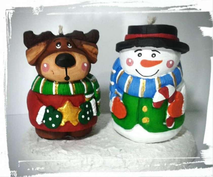 Velas decorativas navideñas, velas talladas, navidad