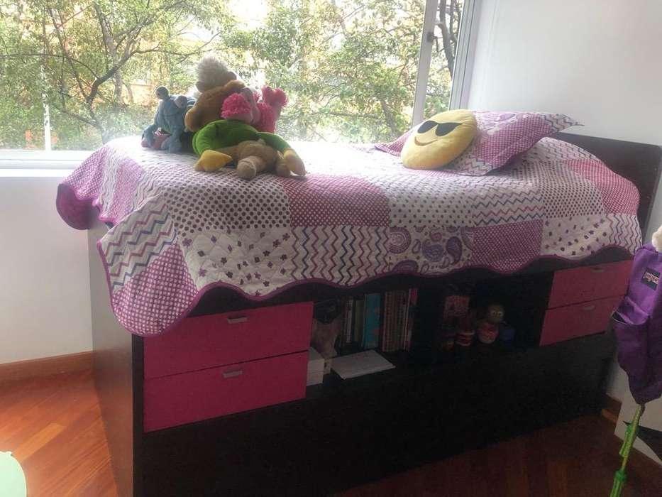 Cama Alta con Cajones y <strong>escritorio</strong>