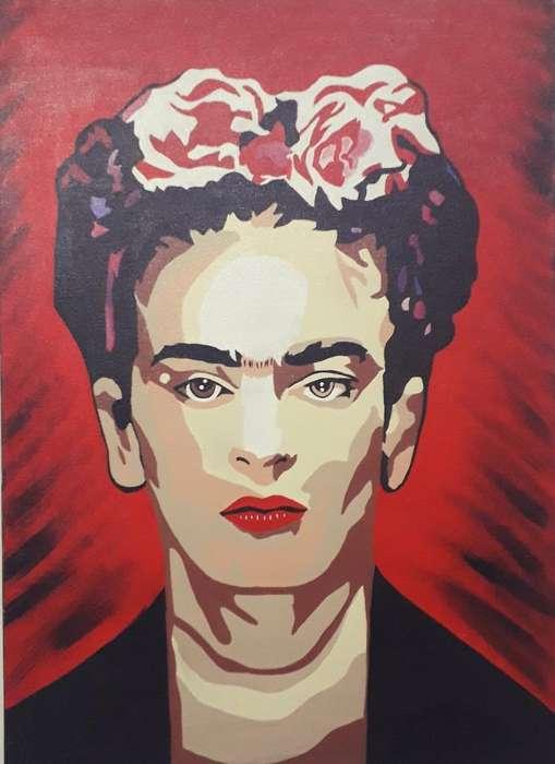 Hermoso Cuadro de Frida. Estilo Pop