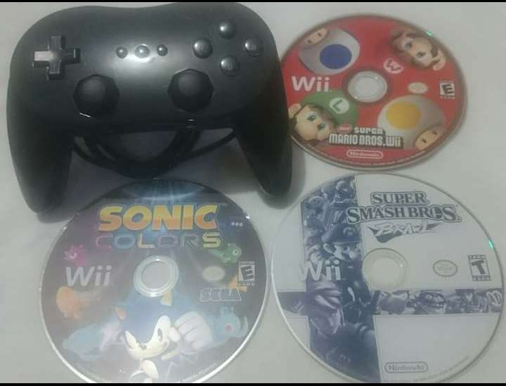 Juegos Nintendo Wii y Control Pro