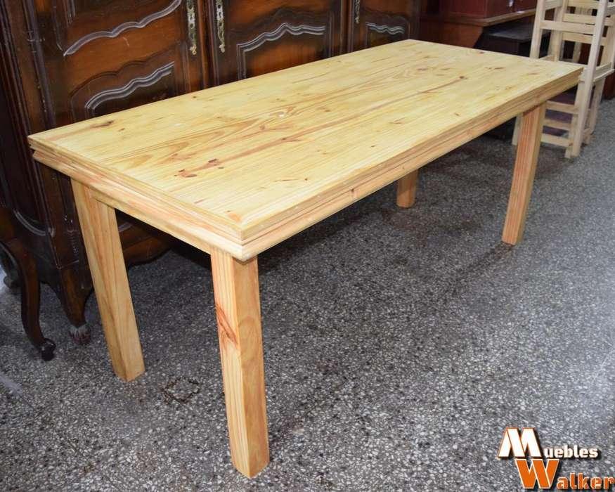 Mesa GRANDE de comedor de pino macizo 1,80cm. x 80cm.