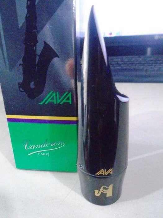 Boquilla <strong>saxo</strong> Alto Vandoren Jumbo Java A55 Ebonita