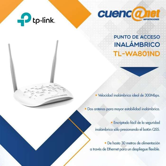 Tplink Tlwa801nd 300mbps N Access P. Ath. 2t2r, 2.4ghz, 8
