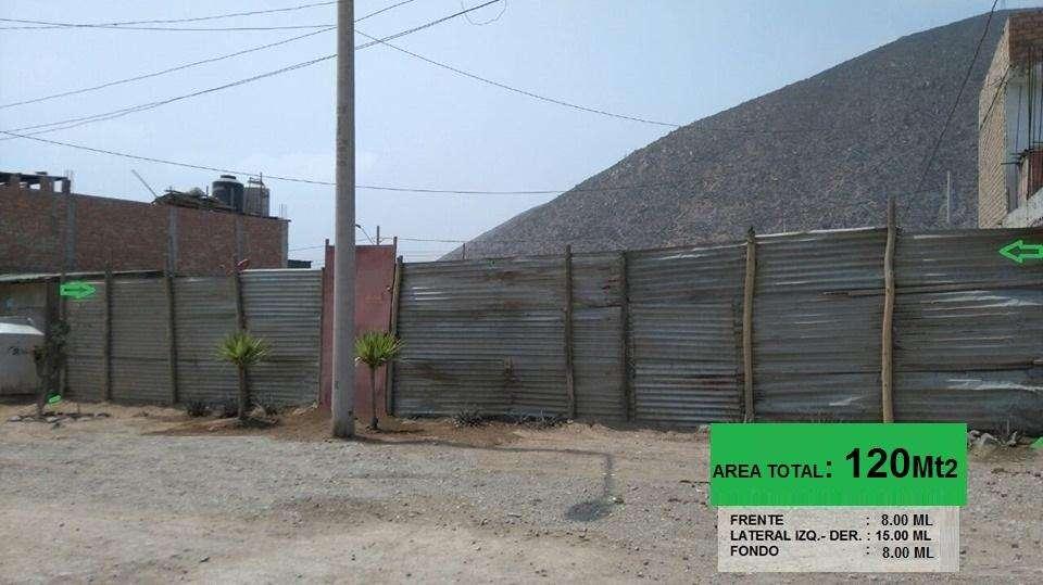 EXCELENTE TERRENO DE 12O MT2 EN MANCHAY, PACHACAMAC . (PARQUE EL RETAMAL)