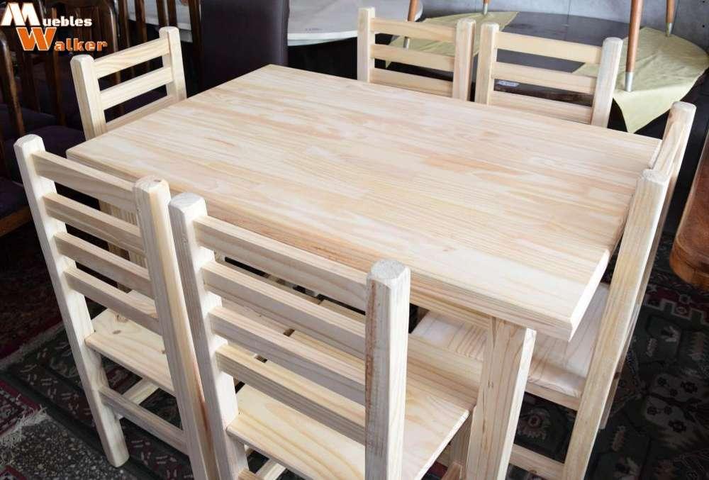 Mesa de comedor con 6 <strong>silla</strong>s francesas