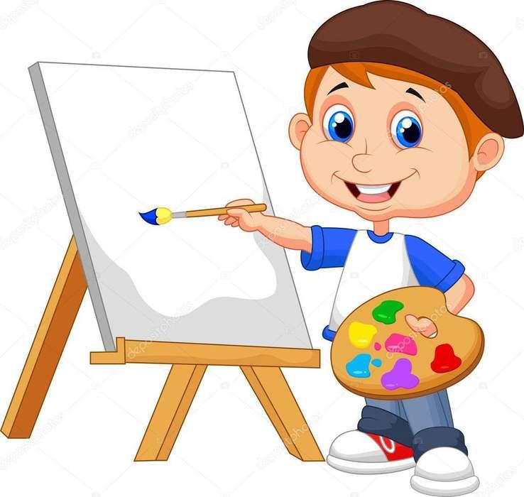 Curso de dibujo y pintura para niños a domicilio