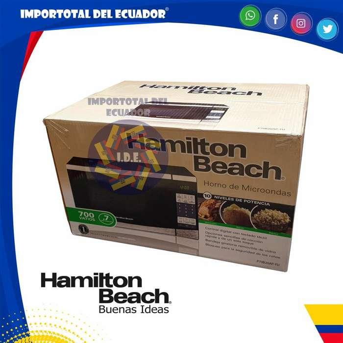 Horno de microondas cromado ''nuevo'' 20 litros pequeño / 700 vatios / Hamilton Beach P70B20AP-YU / 1 año garantía