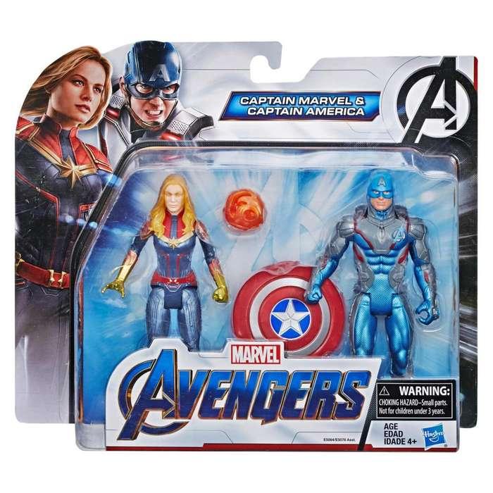 Capitan America Y Capitana Marvel AVENGERS ENDGAME
