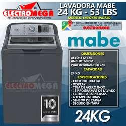Combo Lavadora Y Secadora Electrica Mabe 24 Kg / 53 Lbs
