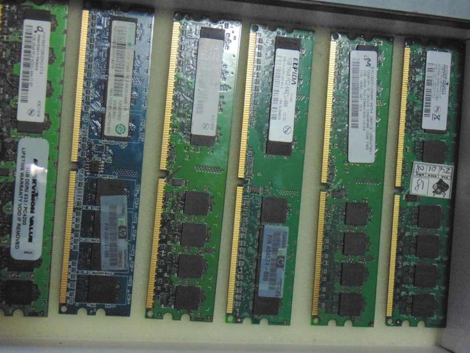 Venta de Memorias RAM DDR2 256MB, 512MB, 1GB Entrega personalizada valle Aburrá