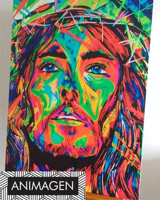 Cuadro decorativo de jesus 4525
