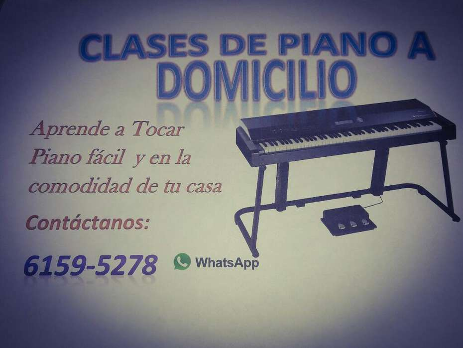 Clases de Piano a Domicilio Colon