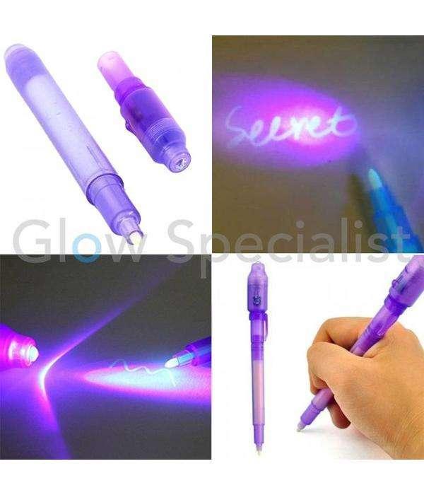 Marcadores de tinta invisible con luz UV paquete por 4 unidades