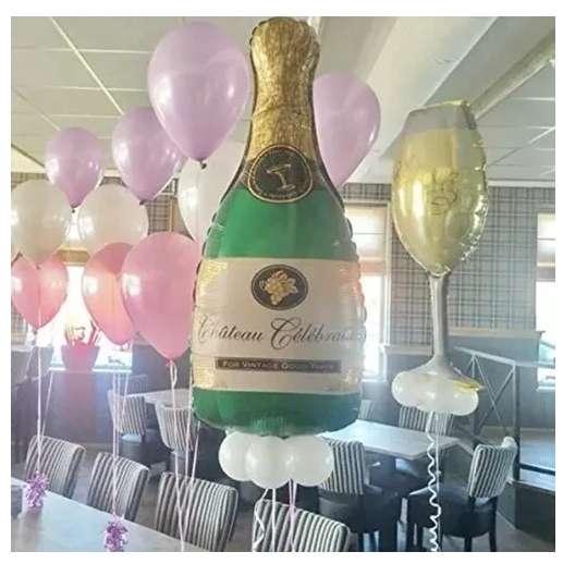 Globo metálico champagne