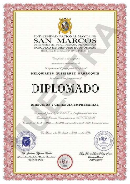 Diplomados a Distancia UNMSM IDEPT