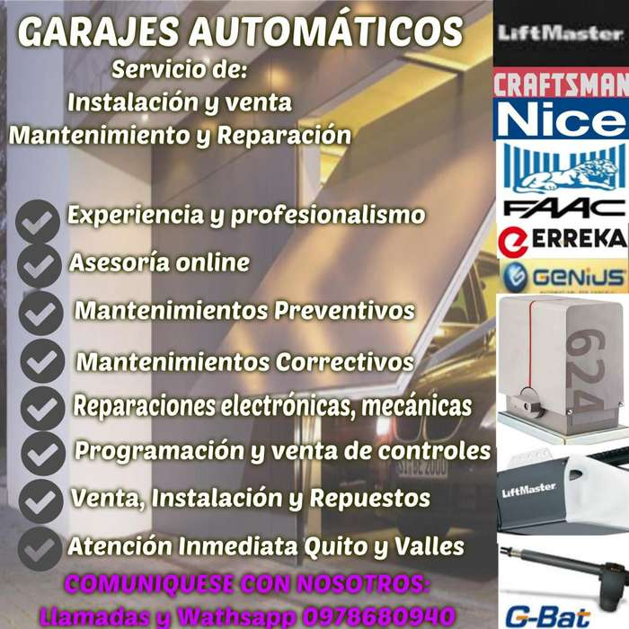 AUTOMATIC GARAGES - GARAJES AUTOMATICOS REPARACIÓN MATENIMIENTO PROFESIONAL