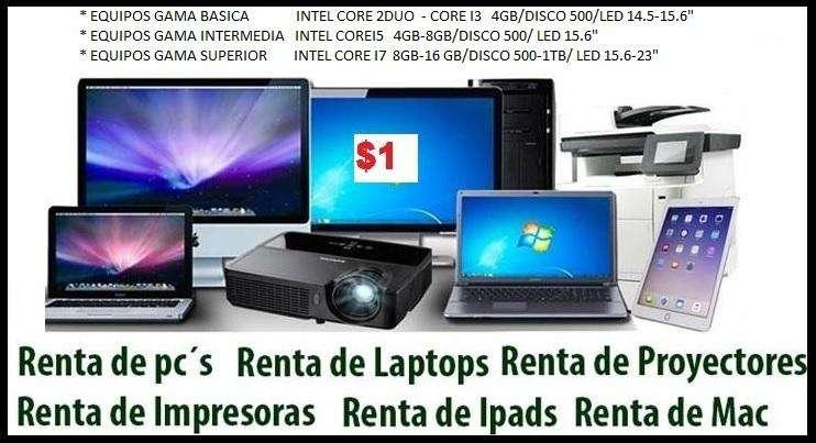ALQUILER VENTA LAPTOP PC CI3 CI5 CI7 PROYECTOR ECRAM SONIDO LIMA y PROVINCIA dsde 1 x DIA Factura/Bolet