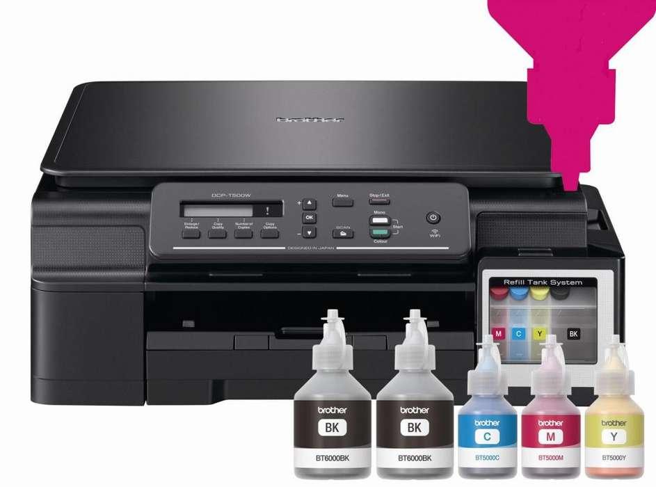 Impresora Brother t500w Sistema Continuo WIFI Multifuncional T500 dcpT500w dcpT500