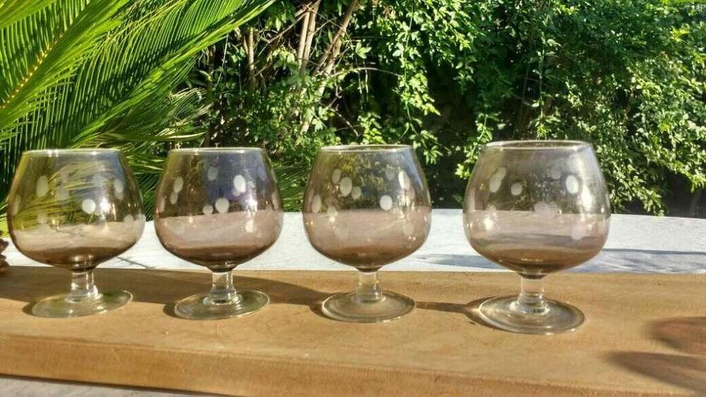 <strong>copas</strong> de Cognac color caramelo
