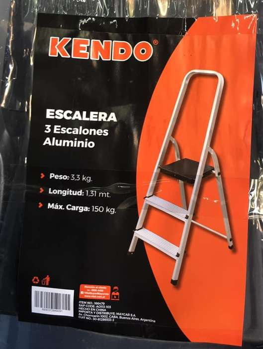 Escalera de aluminio Kendo de 3 escalones
