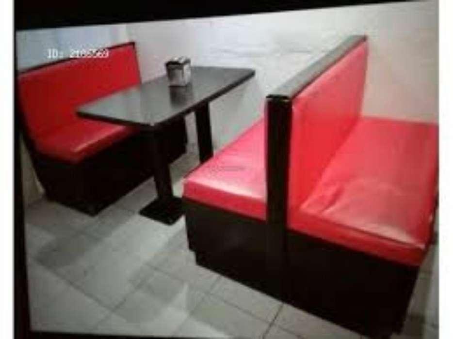 Se Vende Butacas Color Rojo con Marron