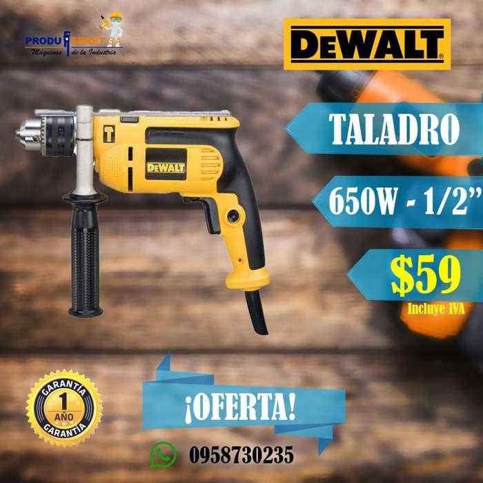 Taladro Percutor DeWALT 650W 13MM