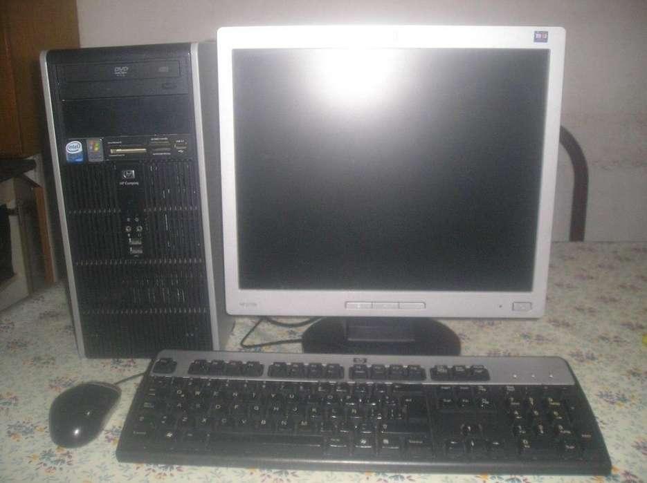 Computadora Completa Hp Core 2 Duo C/monitor Lcd 17 Hp Excel