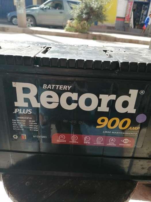 Vendo Bateria Record Plus 900 Amp