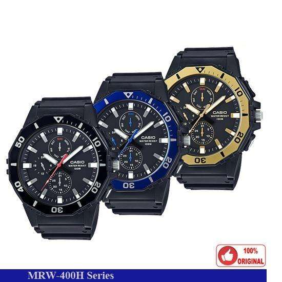 78f429c5e944 Reloj Casio Original Mrw 400h Azul Negro Dorado Sumergibles Precio
