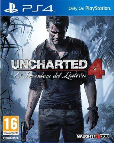 uncharted 4 juego ps4 original envio gratis en montevideo