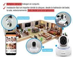 Monitoreo Para Bebe Kit 4 Camaras Wifi C/audio Ojo Instalado