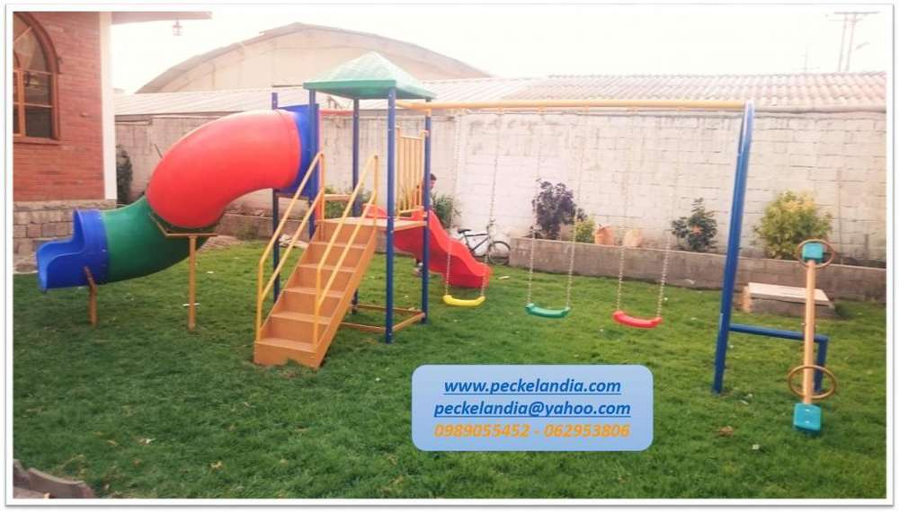 Juegos Infantiles Para Parques, Resbaladeras, Columpios, Toboganes