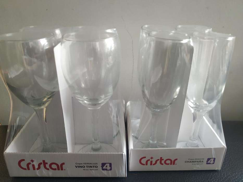 2 Juegos Copas Vino Blanco Y Vino Tinto