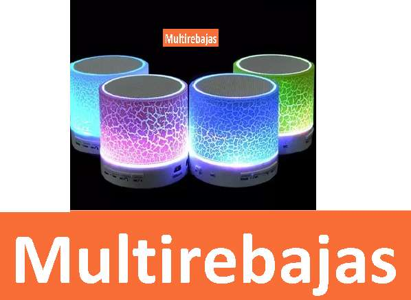 Mini Parlante Bluetooth Luces Led Manos Libres Micro Sd Aux