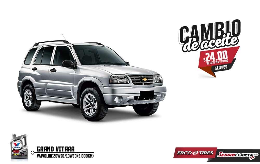 Cambio de Aceite - Chevrolet Grand Vitara - Valvoline.
