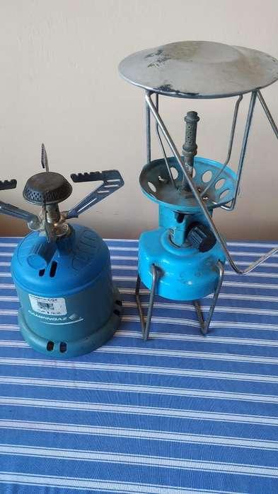 Mini Cocineta Reverbero Y Lámpara a Gas