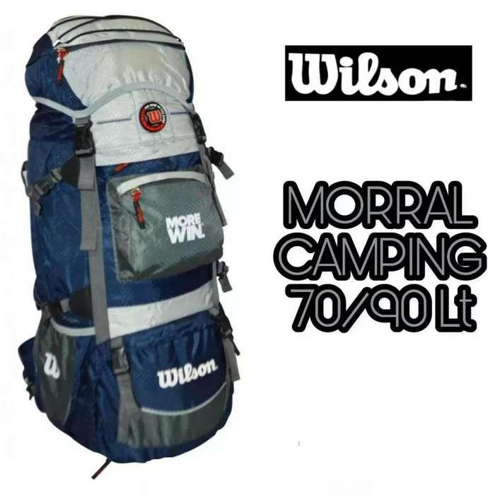 Morral Camping Wilson 80 Litros Rain Cover Riñonera
