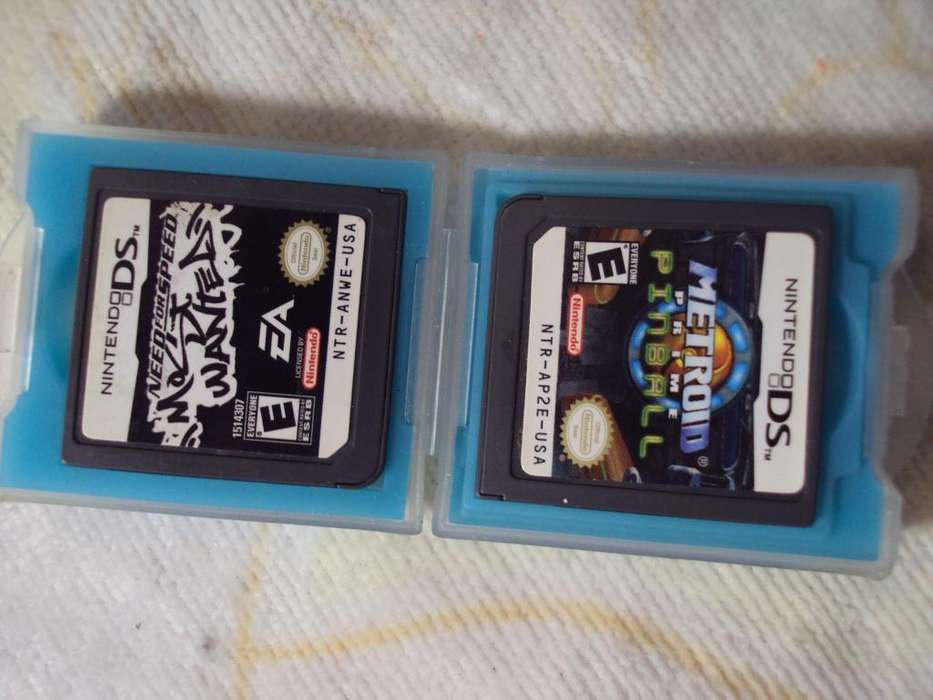 nintendo ds vendo esas 2 pelis need for speed y pinball