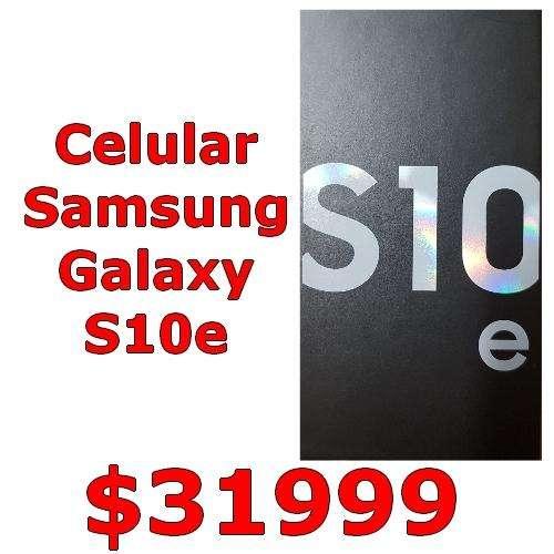 CELULAR SAMSUNG GALAXY S10e Nuevo Entrega Inmediata!!! doble Camara 128GB